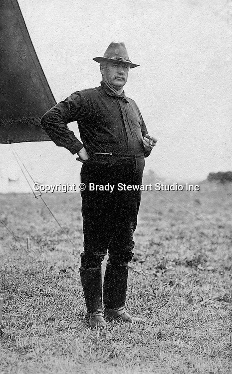 Gettysburg PA: Photograph of General Wiley, 2nd Brigade of the PA National Guard. Brady Stewart was in Gettysburg with the Pittsburgh-area Boy's Brigade.  They were in Gettysburg for 40th anniversary of the battle of Gettysburg - 1903