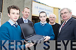 ONLINE: Unveiling the new website for St Michael's College in Listowel this week were l-r: Conor Dillon, Liam Hassett (Deputy Principal), Darren Keane, Tom Healy (IT Co-Ordinator), John Mulvihill (Principal).