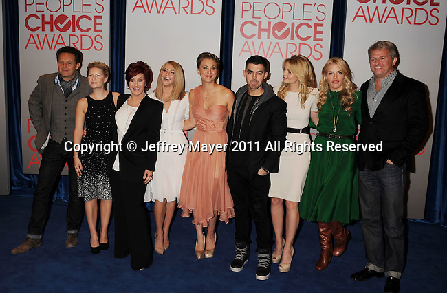 BEVERLY HILLS, CA - NOVEMBER 08: Mark Burnett, Elisha Cuthbert, Sharon Osbourne, Julianne Hough, Kaley Cuco, Joe Jonas, Jennifer Morrison, Busy Phillips and Fred Nelson attend the People's Choice Awards 2012 Nominees Announcement at The Paley Center for Media on November 8, 2011 in Beverly Hills, California.