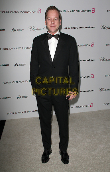 KIEFER SUTHERLAND.17th Annual Elton John AIDS Foundation Academy Award Viewing Party held at the Pacific Design Center, West Hollywood, California, USA..February 22nd, 2009.oscars full length black tuxedo .CAP/ADM/KB.©Kevan Brooks/AdMedia/Capital Pictures.