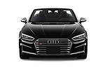 Car photography straight front view of a 2018 Audi S5 Base 2 Door Convertible