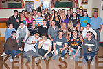 DOUBLE 21ST: Ronan Byrne, Turrsilagh and Shane Smith, Oakpark (seated 4th & 5th left) enjoying a great time celebrating their 21st birthdays at the John Mitchels clubhouse on Saturday..   Copyright Kerry's Eye 2008