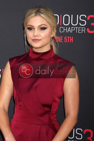 Olivia Holt at the &quot;Insidious Chapter 3&quot; Premiere, TCL Chinese Theater, Hollywood, CA 06-04-15<br /> David Edwards/DailyCeleb.com 818-249-4998