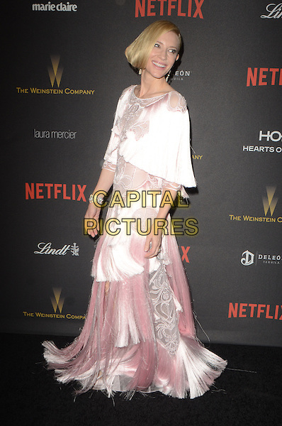 BEVERLY HILLS, CA - JANUARY 10: Cate Blanchett at The Weinstein Company and Netflix Golden Globe Party at The Beverly Hilton Hotel on January 10, 2016 in Beverly Hills, California. <br /> CAP/MPI/DE<br /> &copy;DE//MPI/Capital Pictures