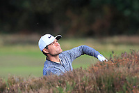 Lucas Bjerregaard (DEN) on the 2nd fairway during Round 3 of the Sky Sports British Masters at Walton Heath Golf Club in Tadworth, Surrey, England on Saturday 13th Oct 2018.<br /> Picture:  Thos Caffrey | Golffile