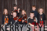 Talented string musicians the Kerry School of Music who performed in the Malton Hotel on Sunday front l-r: Orla O'sullivan Killorglin, Sadbh O'sullivan killorglin, Eoin Creedon Ballymac. Back row: Sarah Moran Knockanes, Andrea Dowling Castlegregory, Ciaran O'sullivan Killorglin  and Keelan Doyle Killarney