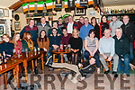 Video Night : Members of the Beale GAA club who took part in the Lip Zipped event at Christmas attending the video night at The Railway Bar, Ballybinion on Saturday night last.