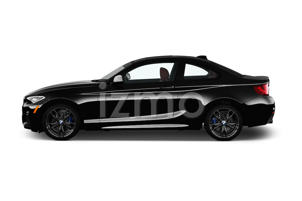 Car Driver side profile view of a 2017 BMW 2-Series M240i 2 Door Coupe Side View