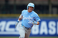 Ashton McGee (36) of the North Carolina Tar Heels hustles towards third base against the Boston College Eagles in Game Five of the 2017 ACC Baseball Championship at Louisville Slugger Field on May 25, 2017 in Louisville, Kentucky. The Tar Heels defeated the Eagles 10-0 in a game called after 7 innings by the Mercy Rule. (Brian Westerholt/Four Seam Images)