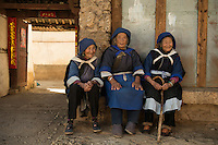 Naxi women, Baisha Naxi Village, Lijiang, Yunnan, China. 10 November 2012.