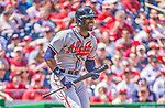 14 April 2013: Atlanta Braves right fielder Jason Heyward in action against the Washington Nationals at Nationals Park in Washington, DC. The Braves shut out the Nationals 9-0 to sweep their 3-game series. Mandatory Credit: Ed Wolfstein Photo *** RAW (NEF) Image File Available ***