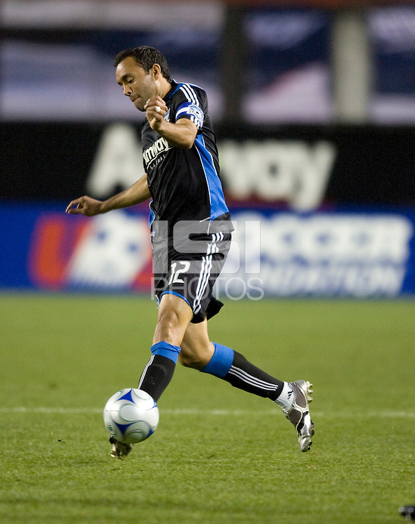 28 March 2009: Ramiro Corrales of Earthquakes in action during the game against the Dynamo at Buck Shaw Stadium in Santa Clara, California.  San Jose Earthquakes defeated Houston Dynamo, 3-2.