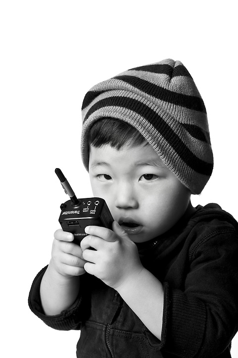 Holden Miller, 2, is pictured during a studio portrait at his dad's office in Madison, Wis., on Dec. 13, 2009.