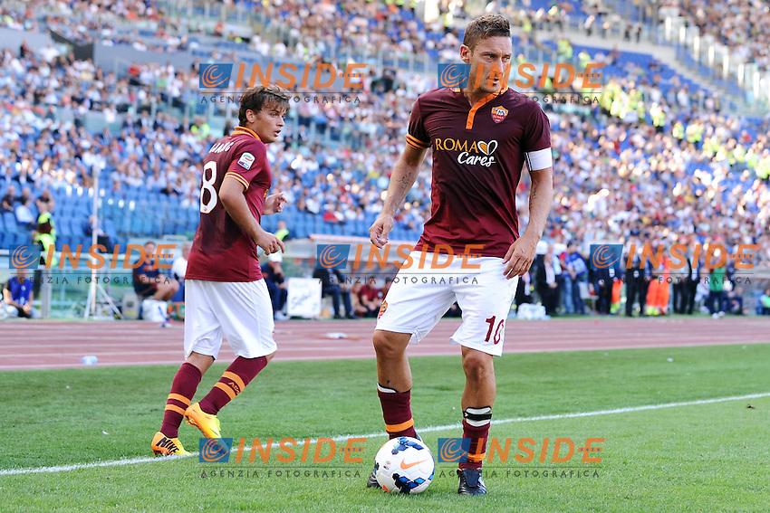 Adem Ljajic, Francesco Totti Roma <br /> Roma 22-09-2013 Stadio Olimpico <br /> Football Calcio 2013/2014 Serie A<br /> Roma - Lazio <br /> Foto Andrea Staccioli Insidefoto