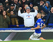17th March 2019, Goodison Park, Liverpool, England; EPL Premier League Football, Everton versus Chelsea; Richarlison of Everton celebrates his opening goal after 48 minutesfor 1-0