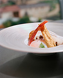 SPAIN, a dish called Gehry Eggs made by Chef Francis Paniego at the restaurant at Marques De Riscal.