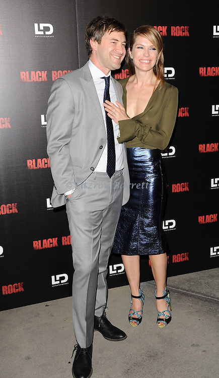 """Mark Duplass and Katie Aselton at the screening of """"Black Rock"""" held at the Arclight Theatre in Los Angeles, CA. on May 8, 2013."""