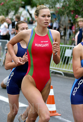 05 MAY 2004 - FUNCHAL, POR - Leila Gyenesi (HUN) - World Aquathlon Championships (PHOTO (C) NIGEL FARROW)