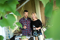Deirdre Heekin and Caleb Barber operate Osteria Pane E Salute in Woodstock, Vermont. They make wine and raise many vegetables they use in their restaurant. For the New York Times