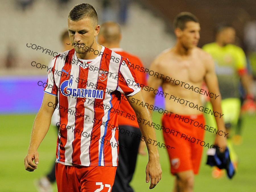 Fudbal UEFA Europa League season 2013-2014<br /> Crvena Zvezda Vs. Cernomorec (Odessa)<br /> Darko Lazic and Stefan Mihajlovic looks dejected<br /> Beograd, 08.08.2013.<br /> foto: Srdjan Stevanovic/Starsportphoto &copy;