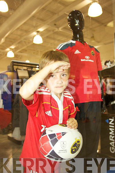 John Henderson waits for Munster Rugby Players to arrive at Lifestyle Sports in Manor Tralee on Thursday