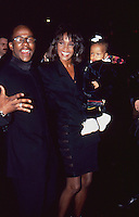 Whitney Houston w/Daughter & Bobby Brown 1994 by Jonathan Green
