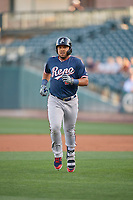 Yasmany Tomas (23) of the Reno Aces during the game against the Salt Lake Bees at Smith's Ballpark on June 26, 2019 in Salt Lake City, Utah. The Aces defeated the Bees 6-4. (Stephen Smith/Four Seam Images)