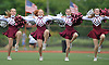 The Garden City kickline entertains fans during halftime of a Nassau County Conference II game against Manhasset at Garden City High School on Saturday, September 12, 2015.<br /> <br /> James Escher
