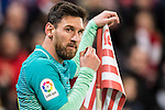 Lionel Andres Messi of FC Barcelona stands past a corner flag during their Copa del Rey Round of 16 first leg match between Athletic Club and FC Barcelona at San Mames Stadium on 05 January 2017 in Bilbao, Spain. Photo by Victor Fraile / Power Sport Images