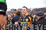 William Kirby Austin Stacks players celebrate winning the Kerry Senior County Football Final at Fitzgerald Stadium on Sunday.