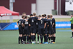 SALEM, VA - DECEMBER 3:The Knights huddle up during theDivision III Men's Soccer Championship held at Kerr Stadium on December 3, 2016 in Salem, Virginia. Tufts defeated Calvin 1-0 for the national title. (Photo by Kelsey Grant/NCAA Photos)