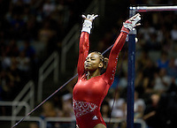 Kennedy Baker of Texas Dreams competes on uneven bars during 2012 US Olympic Trials Gymnastics Finals at HP Pavilion in San Jose, California on July 1st, 2012.
