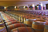 Domaine Gerard Bertrand, Chateau l'Hospitalet. La Clape. Languedoc. Barrel cellar. France. Europe.