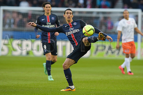 05.03.2016. Paris, France. French League 1 football. Paris St Germain versus Montpellier.  Angel Di Maria (PSG)