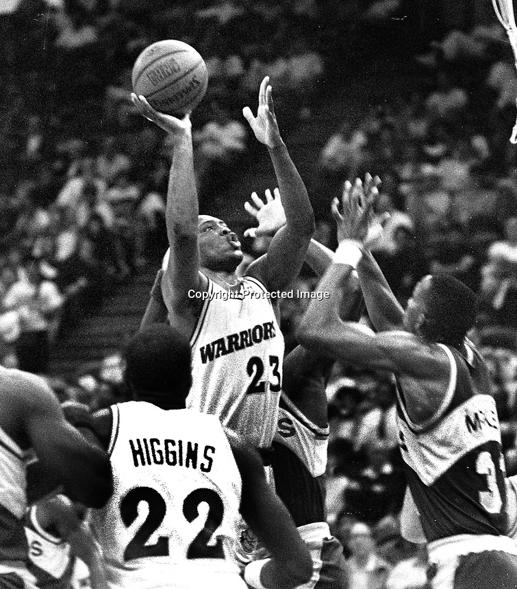 Warriors Mitch Richmond...against Seattle...(1990 photo/Ron Riesterer)