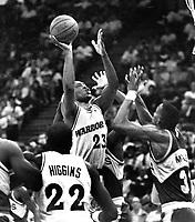 Warriors Mitch Richmond...against Seattle...(1990 photo/Ron Riesterer)