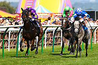 Winner of The Shadwell Stud Racing Excellence Apprentice Handicap, Ashazuri ridden by Jean-Louis Jamin and trained by Jonathan Portman during Father's Day Racing at Salisbury Racecourse on 18th June 2017