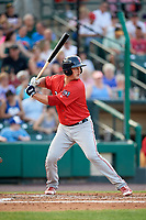 Pawtucket Red Sox first baseman Mike Ohlman (16) at bat during a game against the Rochester Red Wings on July 4, 2018 at Frontier Field in Rochester, New York.  Pawtucket defeated Rochester 6-5.  (Mike Janes/Four Seam Images)