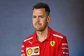 22nd March 2018, Melbourne Grand Prix Circuit, Melbourne, Australia; Melbourne Formula One Grand Prix, Arrivals and Press Conference; Sebastian Vettel (Germany) of Ferrari speaks during a press conference