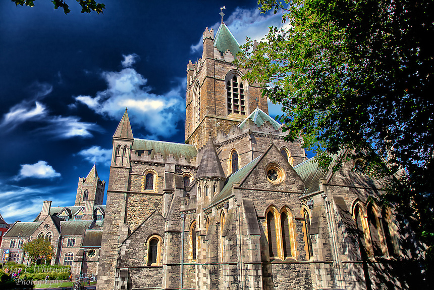 A view of the beautiful Christ Church Cathedral in Dublin Ireland.