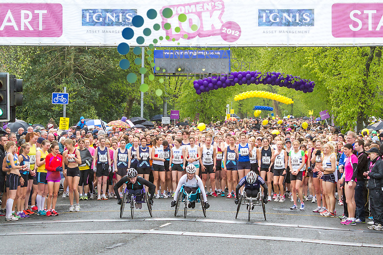 Ignis Asset Management Women's 10k in Glasgow,The largest all-woman race in the UK is one of the highlights on the Scottish sporting calendar...13th May 2012 Picture: Steven Scott Universal News And Sport (Europe)