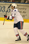 March 13, 2009:  Defenseman Jason Garrison (3) of the Rochester Amerks, AHL affiliate of the Florida Panthers, in the third period during a game at the Blue Cross Arena in Rochester, NY.  Toronto defeated Rochester 4-2.  Photo copyright Mike Janes Photography 2009