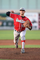 Great Lakes Loons pitcher Ralston Cash (46) delivers a pitch during a game against the West Michigan Whitecaps on June 4, 2014 at Fifth Third Ballpark in Comstock Park, Michigan.  West Michigan defeated Great Lakes 4-1.  (Mike Janes/Four Seam Images)