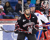 Drew Daniels (Northeastern - 24), Riley Wetmore (Lowell - 16) - The visiting Northeastern University Huskies defeated the University of Massachusetts-Lowell River Hawks 3-2 with 14 seconds remaining in overtime on Friday, February 11, 2011, at Tsongas Arena in Lowelll, Massachusetts.