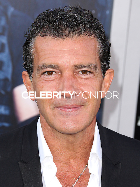 HOLLYWOOD, LOS ANGELES, CA, USA - AUGUST 11: Antonio Banderas at the Los Angeles Premiere Of Lionsgate Films' 'The Expendables 3' held at the TCL Chinese Theatre on August 11, 2014 in Hollywood, Los Angeles, California, United States. (Photo by Xavier Collin/Celebrity Monitor)