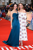 """Jessica Brown Findlay and Lily James<br /> arriving for the world premiere of """"The Guernsey Literary and Potato Peel Pie Society"""" at the Curzon Mayfair, London<br /> <br /> ©Ash Knotek  D3394  09/04/2018"""
