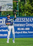 8 July 2014: Vermont Lake Monsters outfielder Dayton Alexander in action against the Lowell Spinners at Centennial Field in Burlington, Vermont. The Lake Monsters rallied with two runs in the 9th to defeat the Spinners 5-4 in NY Penn League action. Mandatory Credit: Ed Wolfstein Photo *** RAW Image File Available ****