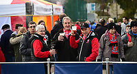 Lincoln City fans enjoy the pre-match atmosphere in the fan zone<br /> <br /> Photographer Chris Vaughan/CameraSport<br /> <br /> Emirates FA Cup First Round - Lincoln City v Northampton Town - Saturday 10th November 2018 - Sincil Bank - Lincoln<br />  <br /> World Copyright © 2018 CameraSport. All rights reserved. 43 Linden Ave. Countesthorpe. Leicester. England. LE8 5PG - Tel: +44 (0) 116 277 4147 - admin@camerasport.com - www.camerasport.com