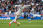 Real Madrid´s Gareth Bale during La Liga match at Santiago Bernabeu stadium in Madrid, Spain. February 14, 2015. (ALTERPHOTOS/Victor Blanco)