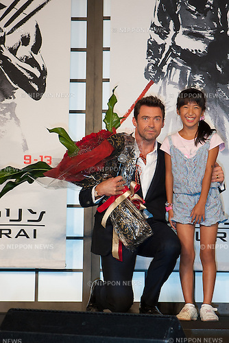 August 28, 2013, Tokyo Japan - The Wolverine Samurai Japan Movie Premiere took place in Tokyo together with hundreds of cheering Fans in the Roppongi Hills Arena.<br /> Director James Mangold and the Stars Hugh Jackman, Tao, Hiroyuki Sanada, Rila Fukushima came on Stage to greet all the Fans and promote the Movie. The movie will be aired in Japan from September 13th. (Photo by Michael Steinebach/AFLO)